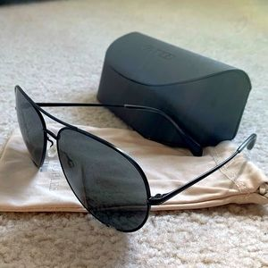 Oliver Peoples aviator Sayer 63mm Sunglasses